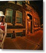 White Hat Street Metal Print