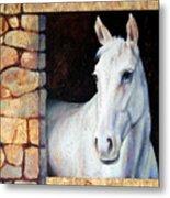 White Horse1 Metal Print