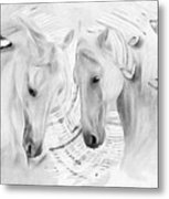 White Horses No 01 Metal Print
