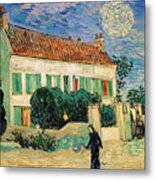 White House At Night Metal Print by Vincent Van Gogh