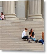 Hanging Out On Steps Metal Print