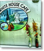 White House Cafe Metal Print