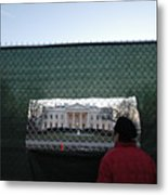 White House Fence Washington Dc Metal Print