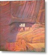 White House Rock  Home Of He Anasazi He Anasazi Metal Print