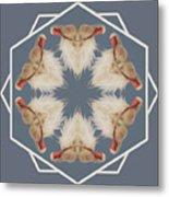 White Ibis Snowflake Metal Print
