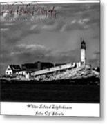 White Island Lighthouse Metal Print