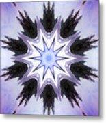 White-lilac-black Flower. Digital Art Metal Print