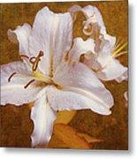 White Lilies. Time To Be Romantic Metal Print