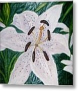 White Lillies Metal Print