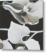 White Orchid Middle Section Metal Print