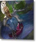 White Owl Magic Metal Print