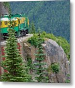 White Pass Train Alaska - Canada Metal Print