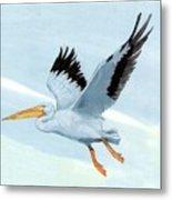 White Pelican 1 Roger Bansemer Metal Print