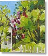 White Picket Fence Metal Print