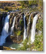 White River Falls In Tygh Valley Metal Print