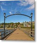 White Rock Pier In Bc Canada Metal Print