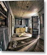 White Room, Yellow Couch, Real Estate Series Metal Print