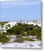 White Sand Dunes And Blue Skies Metal Print