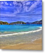 White Sands Beach Metal Print