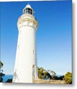 White Seaside Tower Metal Print