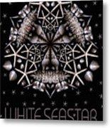 White Seastar Metal Print