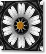 White Shimmering Flower Metal Print