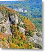 White Side Mountain Fool's Rock In Autumn Vertical Metal Print