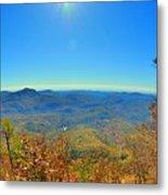 White Side Mountain Nantahala National Forest In Autumn Metal Print