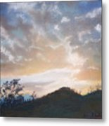 White Sunset Metal Print