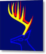 White Taled Deer Metal Print
