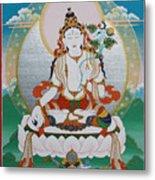 White Tara Chintamani Sita Tara Metal Print