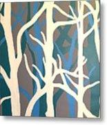 White Trees Metal Print