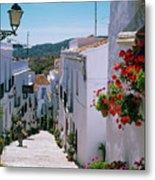 White Village Of Frigiliana Andalucia., Spain Metal Print