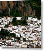 White Village Of Ubrique Spain Metal Print