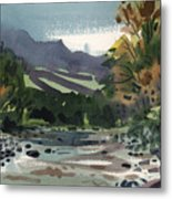 White Water On The White River Metal Print