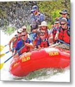 July In Oregon, White Water Rafting Metal Print