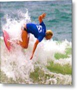 White Water Time Metal Print
