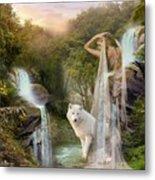 White Wolf Falls Metal Print