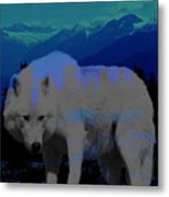 White Wolves Metal Print