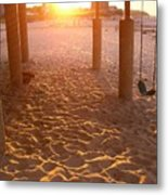 Whitehorse Beach - Swings Metal Print