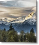 Whitehorse Sunrise, Flowing Clouds Metal Print