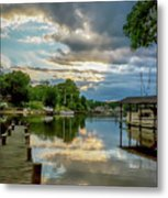 White's Cove Reflections Metal Print