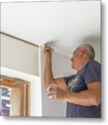Whitewasher Plastering Wall Metal Print