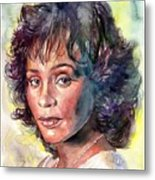 Whitney Houston Portrait Metal Print