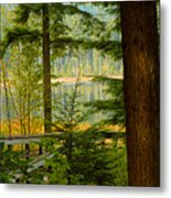 Whonnock Lake Through The Trees Metal Print
