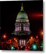 Wi State Capitol From West Washington Ave Metal Print