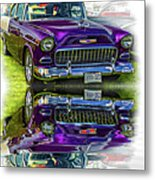 Wicked 1955 Chevy - Reflection Metal Print