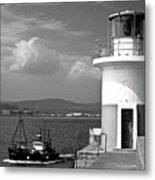 Wicklow Lighthouse Ireland Metal Print