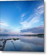 Wide Angled Sunset Over Moosehead Lake Metal Print