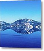 Wide Crater Lake Metal Print